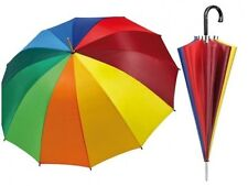 Ombrello Grande Colore Arcobaleno Protegge Da Pioggia e Sole Estate Inverno dfh