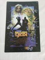"""Star Wars Movie Promo Metal Tin Wall Signs 9"""" X 13"""" Open Road Brand (2 items)"""