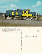 US DELAWARE & HUDSON 5015 ENGINE UNUSED COLOUR POSTCARD