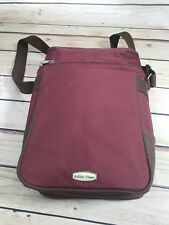 Picnic Time Brown Red Insulated Wine Drink Tall Cooler Tote Shoulder Bag