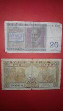 Lotto 2 banconote BELGIO