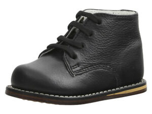 Josmo Toddler Boy's First Walker Black Pebble Lace Up Oxfords Shoes Sz. 6