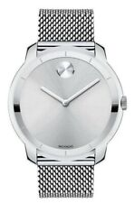 Movado Bold Men's Silver Dial Stainless Steel Mesh Watch 3600260
