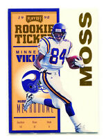 RANDY MOSS 1998 Playoff Contenders Rookie Ticket Gold Triple Option RC SP 17/25