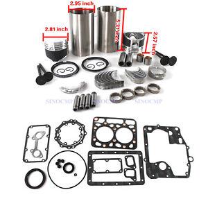 Z600 ZB600 Engine 2 Cylinder Rebuild Kit for Kubota B4200 Tractor Repair Kit STD