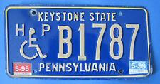 1999 Pennsylvania Handicapped driver license plate nice original condition