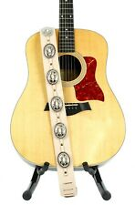 Conch Guitar Strap Genuine Leather Guitar/Bass Strap USA Handmade -Beige Saddle