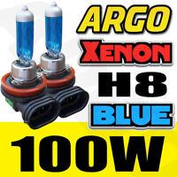 2 piezas H8 8500k Azul Hielo 12v 100w 35w Xenon Halógena Faro Delantero