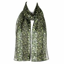 Womens Chiffon Satin Scarf Shawl Wrap