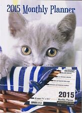 KITTEN CAT 2015 MONTHLY PLANNER CALENDAR APPOINTMENT 40 PAGES COLLECTIBE*