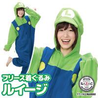 Sazac Luigi Fleece Costume Green Super Mario Brothers Unisex Halloween Japan New