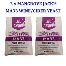 2 x Mangrave JACK's MA33 Premium Wine/Champagne/Cider Yeast