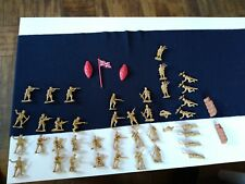 old vintage tan plastic toys soldiers S/H made in china S. H. 40 pcs