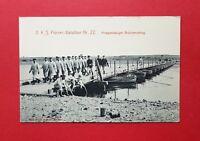 Militär AK Sachsen um 1908 II. K. S. Pionier Bataillon Nr. 22 Brücke   ( 39364