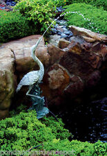 Heron/Crane Pond Fountain Spitter-water garden-bird statue-accent-spouter-figure