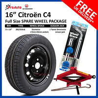 """CITROEN C4 2011 - 2017 FULL SIZE STEEL SPARE WHEEL 16""""  AND TYRE + TOOL KIT"""