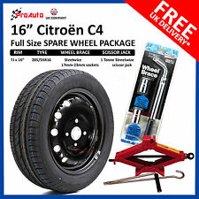 "CITROEN C4 2011 - 2017 FULL SIZE STEEL SPARE WHEEL 16""  AND TYRE + TOOL KIT"