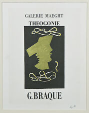 """""""Theogonie"""" by Georges Braque Signed Lithograph 10 1/2""""x8"""""""
