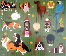 Charles/Charley Harper - FRIENDS OF OUR FAMILIES - Cert of Auth - Dog & Cat art