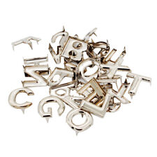 26Pcs DIY Letter Metal Rivets Claw Studs for Bags Clothes Hats Leather Decor