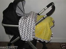"NEW Minky Dots Nursery Toddler child baby Blanket Satin Ruffle chevron 40""X40"""