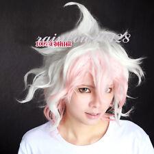 White Mixed Light Orange Dangan-Ronpa Komaeda Nagito Short Anime Cosplay Wig