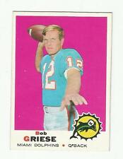 1969 Topps Football Bob Griese #161 2nd Year Beautiful.