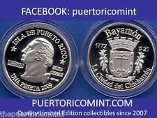 Silver PESETA BAYAMON 2009 Puerto Rico Boricua Quarter 1/100 Plata