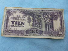 WWII Japanese Occupation Currency Java 10 Gulden Dutch West Indies WWII