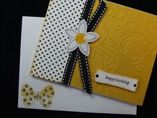 Lot Handmade Happy Birthday 2 Cards Embossed Using Stampin up Butterfly 3d