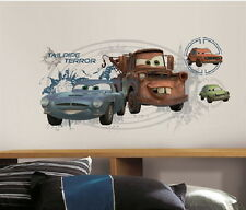 Cars 2 Mater & Finn McMissile Giant Wall Decals with Augmented Reality, Sealed