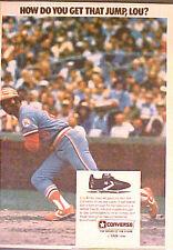 1977 Lou Brock St.Louis Cardinals Baseball Converse Sports Memorabilia Trade AD