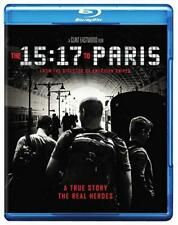 The 15:17 To Paris (Blu-ray, 2 Disc Set) NEW