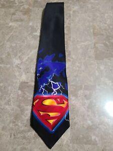 Superman Warner Bros. Men's Silk Tie Lightning