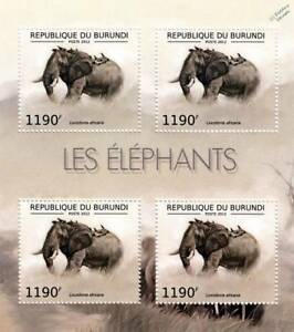 AFRICAN ELEPHANT / Africa Wild Animal Stamp Sheet #4 of 7 (2012 Burundi)