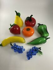 Vintage Murano Style Lot of 9 fruits and vegetables