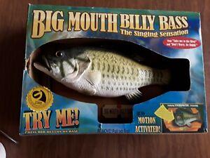 BIG MOUTH BILLY BASS 1999 Original Motion Activated SINGING SENSATION Vintage