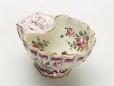 ANTIQUE FRENCH MARSEILLES FAIENCE CRESTED SALT 18/19TH C.
