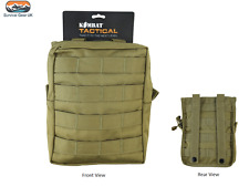 Coyote / Sand MOLLE Large Zipped Army Utility Webbing Pouch RAF Security Airsoft