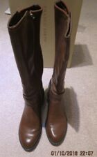 Franco Sarto Women's Brown Celine Talll Stretch Back Boots (8M)