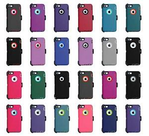 For iPhone XS XR MAX X 8 7 6S Plus 6 Case Cover Belt Clip fits Defender Series