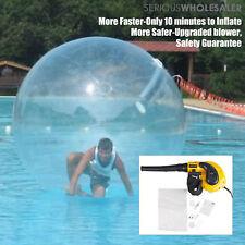 2M Water Walking Ball Roll Inflatable German Zipper Zorb Ball PVC w/ Blower