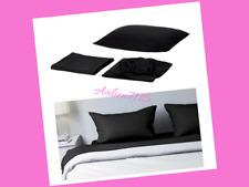 IKEA DVALA Full Size Sheet Set Black Bedding Bed Set 100% Cotton 202.110.68