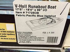 "TAYLOR MADE BOAT COVER V-HULL RUNABOUT 17'-18'L 96""BEAM,I/O, HOT SHOT POLYESTER"