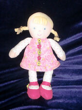 JUST ONE YOU BABY GIRL DOLL BLONDE BRAID PONYTAIL PINK GREEN BROWN FLOWER DRESS