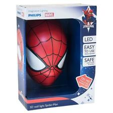 PHILIPS MARVEL SPIDERMAN LED 3D WALL LIGHT BEDROOM CHARACTER DECO LIGHT