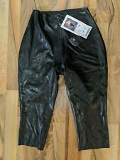 NWT - Polymorphe black latex capri with zip through crotch Size M Style WP-153