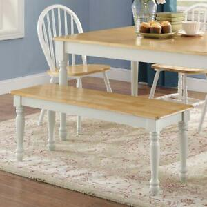 Better Homes & Gardens Autumn Lane Farmhouse Solid Wood Dining Bench, White