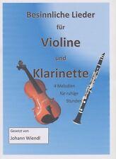 Noten Violine und Klarinette (Duette) Besinnliche Lieder von Johann Wiendl