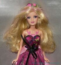 Rare BARBIE MARIPOSA BUTTERFLY FAIRY Doll MACKIE Blonde Pink Streaks Brown Eyes